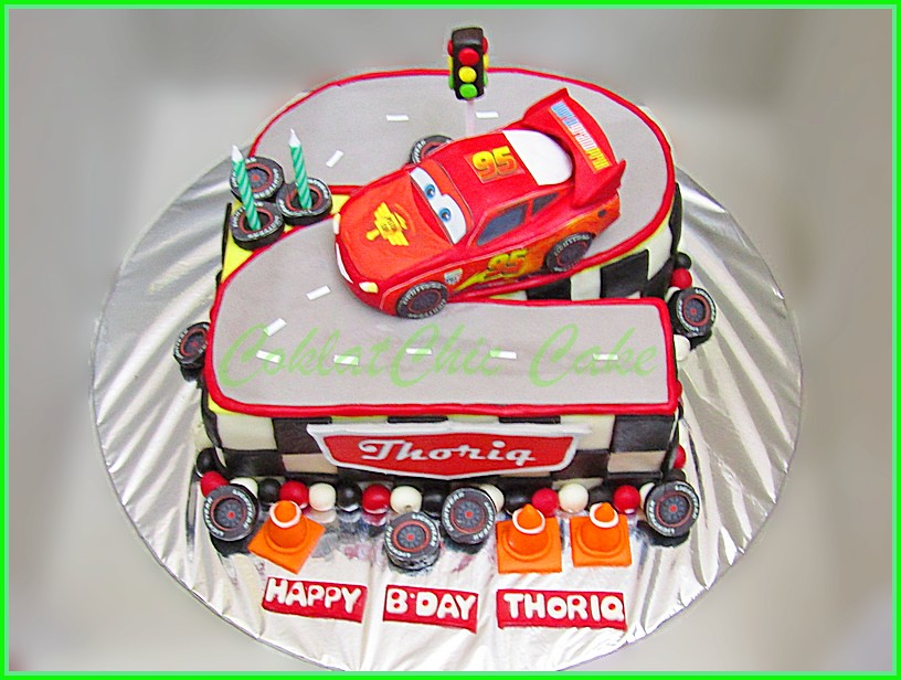 Cake Lightning Mcqueen Disney Cars THORIQ 20 cm
