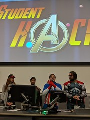 Never trust a man in spandex #StudentHack