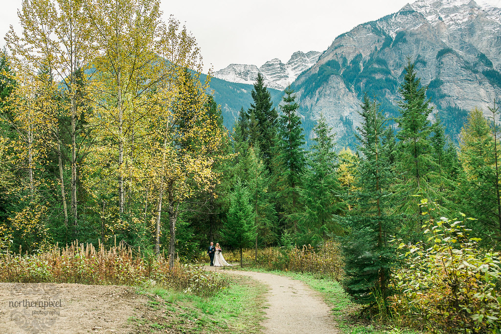 Walking the Aisle - Mount Robson Wedding