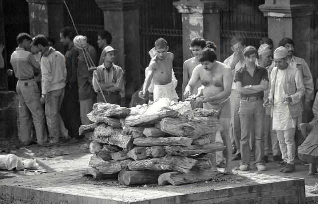 Cremation ceremony. Nepal