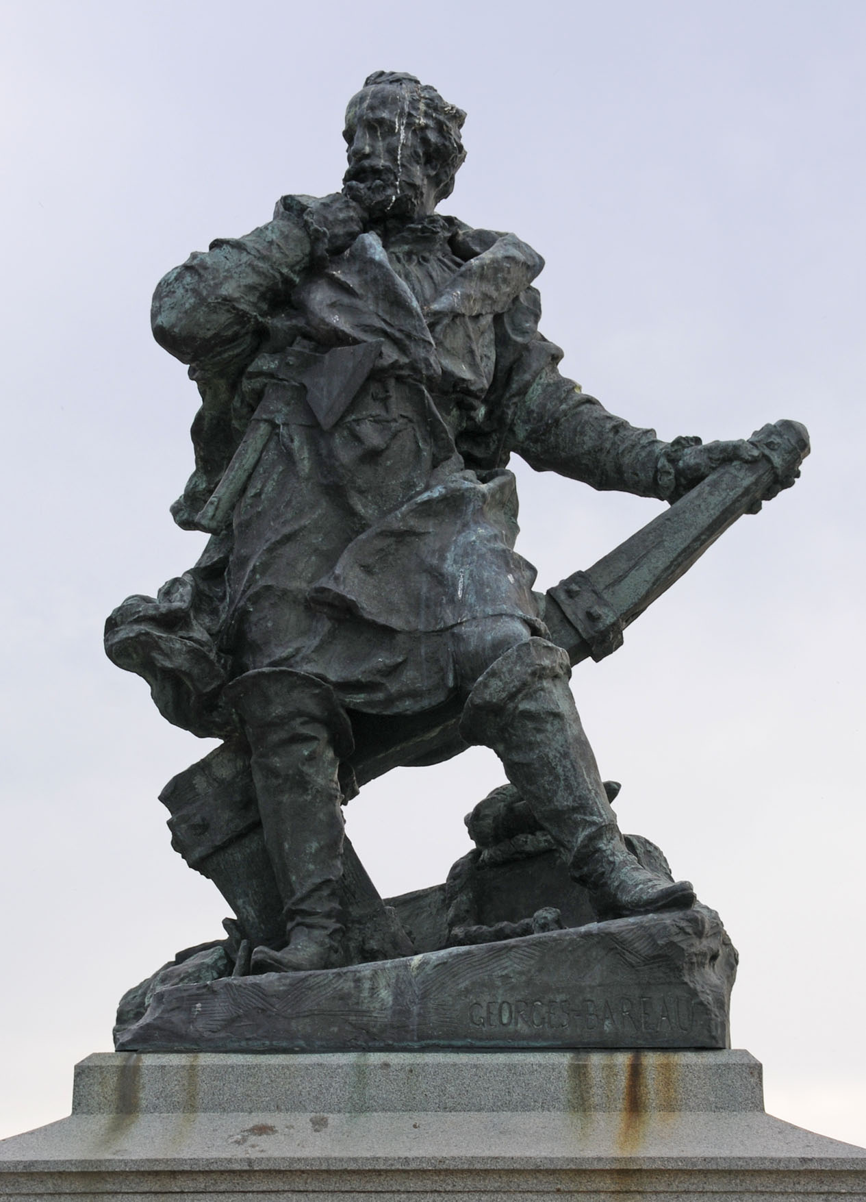 Jacques Cartier Monument in St Malo, France. Photo taken on August 28, 2008.