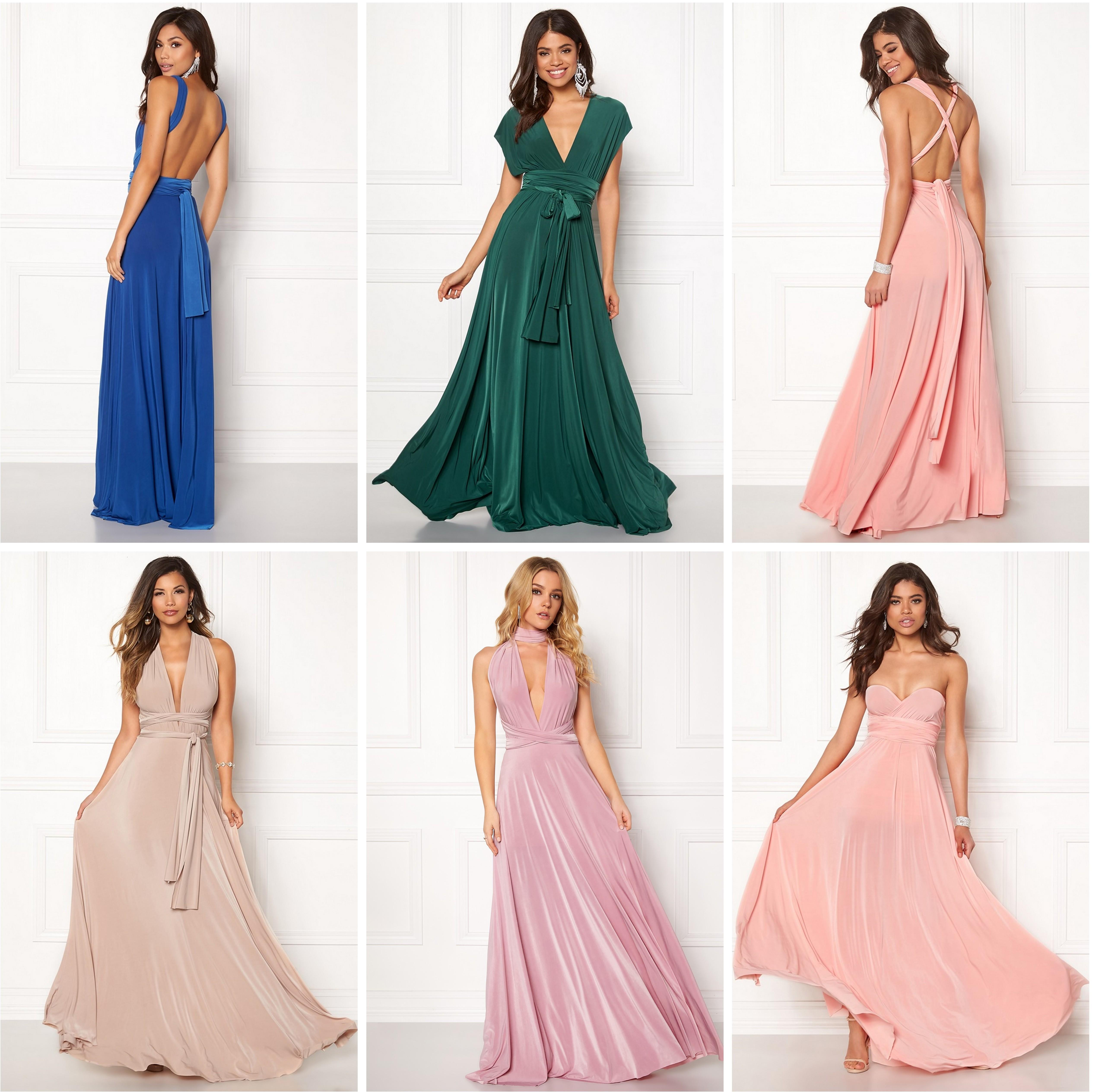 voidaan kietoa eri tavoin mekko