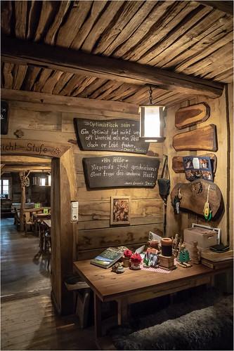 Teufelskanzel . Inside the old restaurant