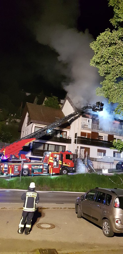 Bad Wildbad: Dachstuhlbrand - 06.05.2018