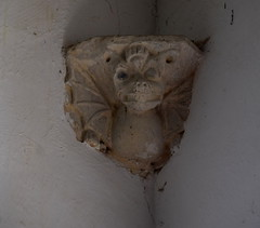dragon corbel (with lenten veil pulley holes)