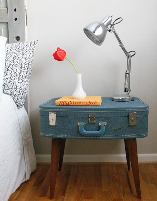 How to Transform old Travel Luggage into Home Furniture