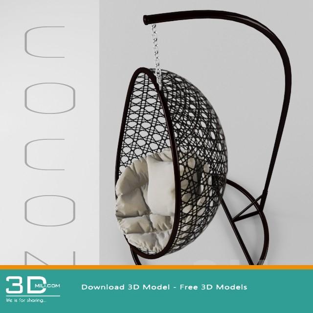 436 Hanging Chair 3d Models Free Download 3dmili 2020 Download 3d Model Free 3d Models 3d Model Download