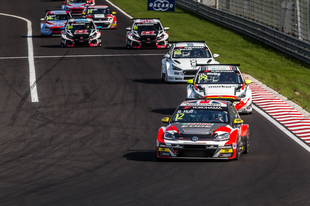 Start Race 2 during the 2018 FIA WTCR World Touring Car cup, Race of Hungary at hungaroring, Budapest from april 27 to 29 - Photo Thomas Fenetre / DPPI