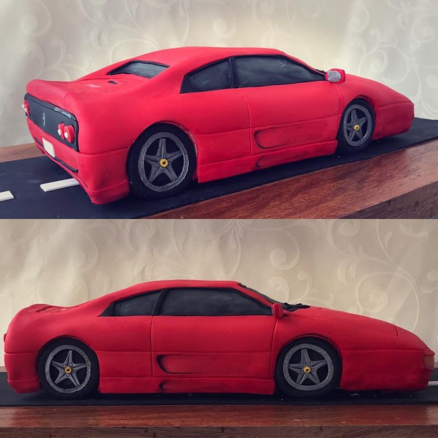 Ferrari 355 Berlinetta Themed Cake by Cristina Michelet of Bumbleberry Sweet Shop