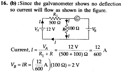 NEET AIPMT Physics Chapter Wise Solutions - Current Electricity explanation 16