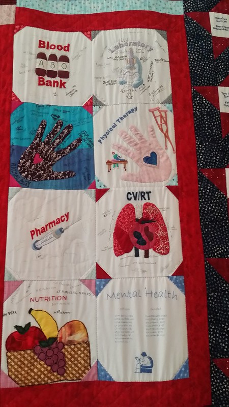 Blocks on quilt at WIMSA