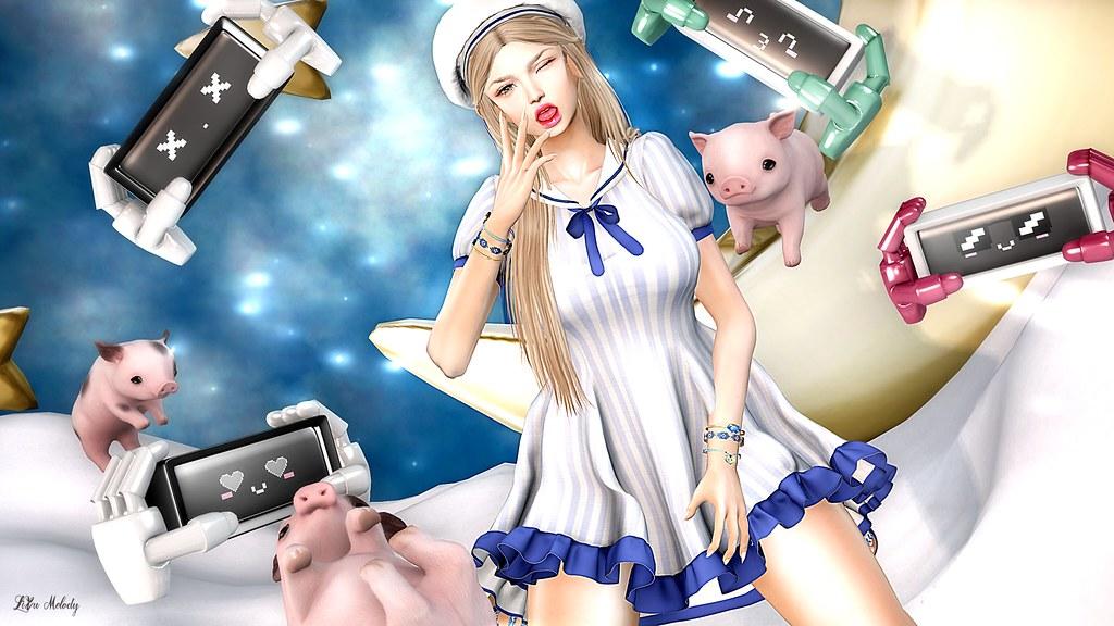 #129 EXiA Sailor dress@EXiA Mainstore / .TeaBunny. Expression Bot@TFC