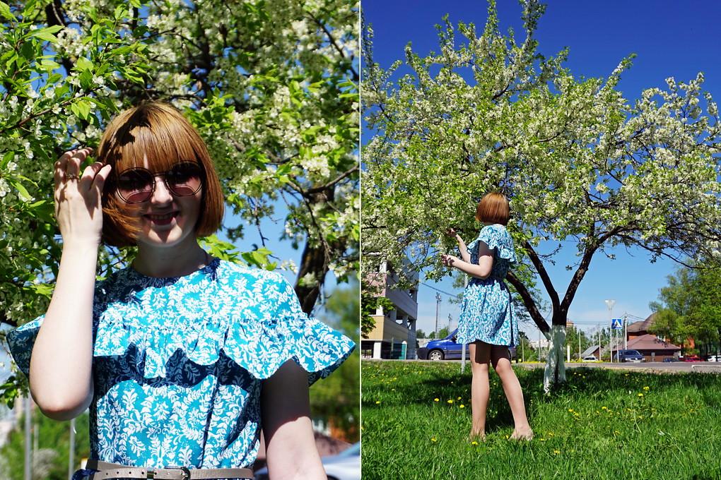 Я шью: Романтичное платье с рюшем