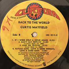 CURTIS MAYFIELD:BACK TO THE WORLD(LABEL SIDE-B)