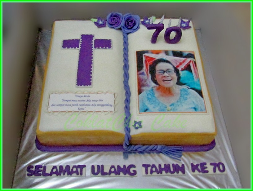 Cake buku edible Photo 30 cm