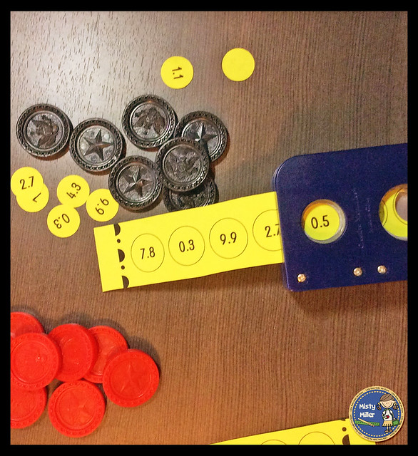 repurposing old games, connect four, 4 in a row, decimals