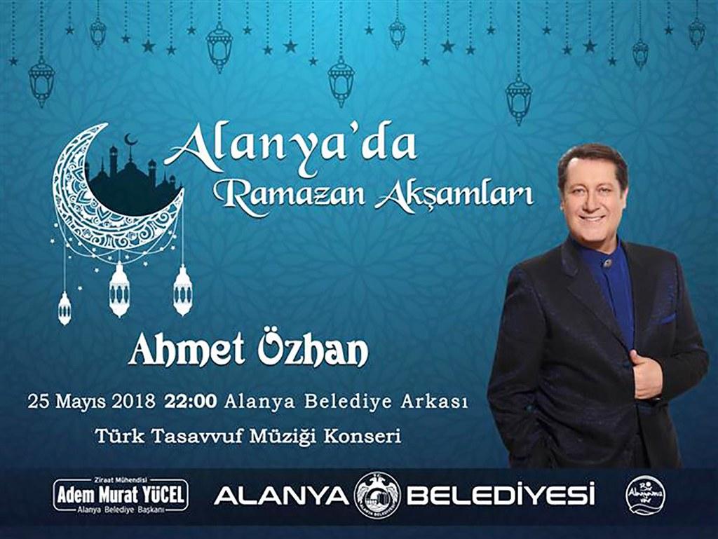 Ahmet Özhan yarın Alanyalılarla buluşacak