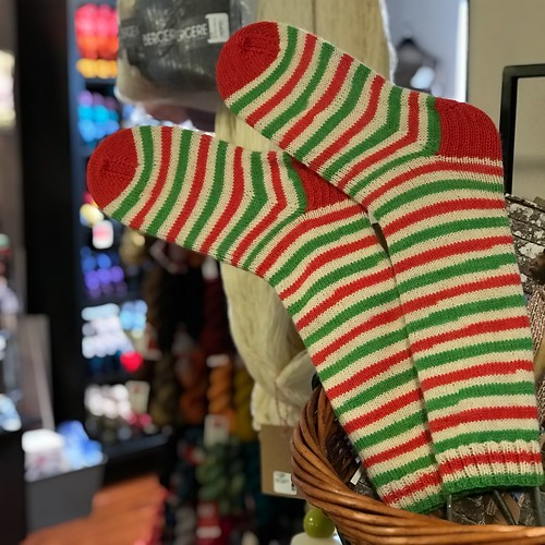 My Candy Cane Socks are both off my needles!