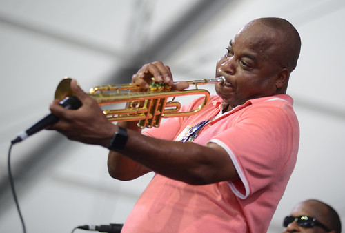 James Andrews on Day 5 of Jazz Fest - 5.4.18. Photo by Leon Morris.