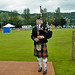 Bagpiper playing a Aberfeldy Highland Games