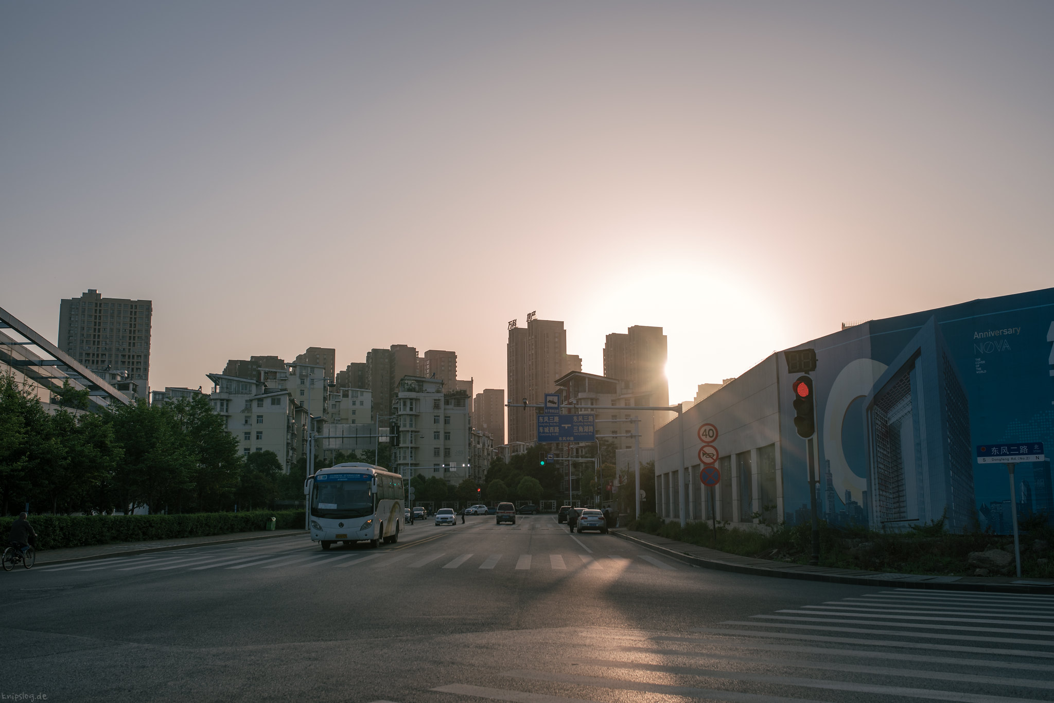 Sundown in Wuhan