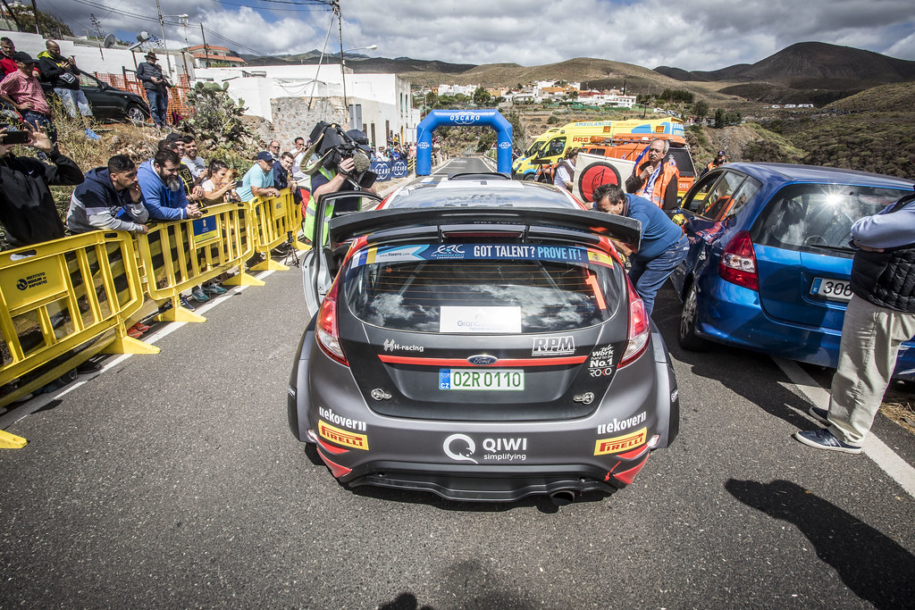 01 LUKYANUK Alexey (rus), ARNAUTOV Alexey (rus), Russian Performance Motorsport, FORD FIESTA R5, action during the 2018 European Rally Championship ERC Rally Islas Canarias, El Corte Inglés,  from May 3 to 5, at Las Palmas, Spain - Photo Gregory Lenormand / DPPI