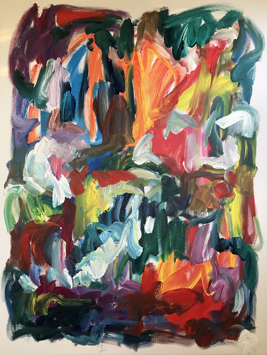 Susan Marx, Turbulence 2018, 48x36, acrylic on canvas