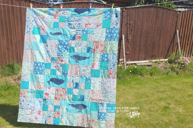 Whales Quilt Top take two