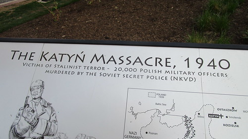 The National Katyń Memorial, Baltimore, Maryland, April 21, 2018