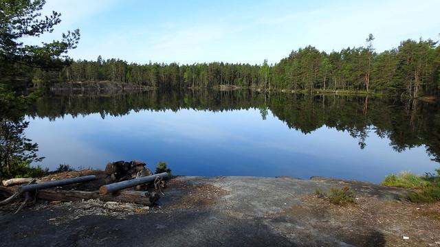 Lake Iso Majaslampi (Nuuksio national park, Espoo, 20180520)