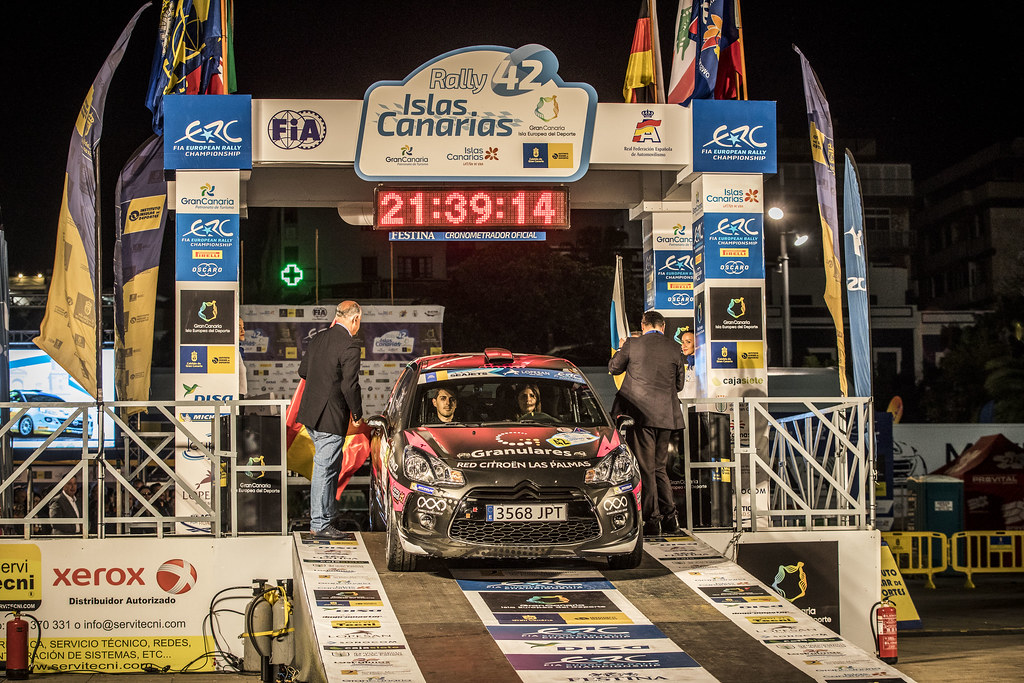 42 FALCON RODRIGUEZ Emma Maria, GONZALES DELGADO Eduardo, Citroen DS3 R3T, action during the 2018 European Rally Championship ERC Rally Islas Canarias, El Corte Inglés,  from May 3 to 5, at Las Palmas, Spain - Photo Gregory Lenormand / DPPI