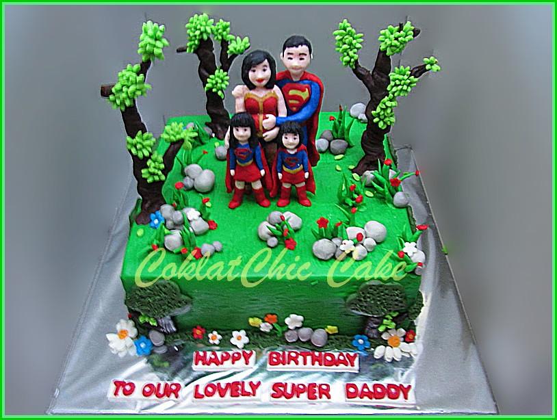 Cake Superhero Family Super Daddy 20 cm