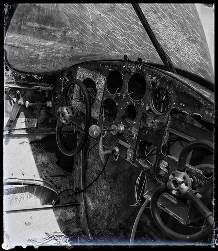 Aircoupe Cockpit | Derelict Single-Engine, Low Wing Monoplane