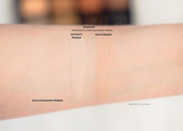 BYS Eyeshadow Primer shadow swatch