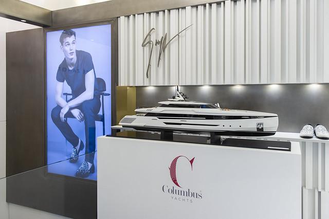 Gruppo Palumbo il lusso dei nuovi modelli Columbus Yachts in vetrina a Milano