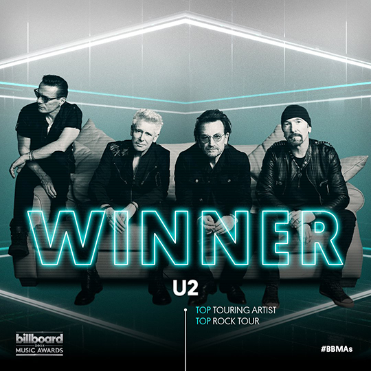 U2 wins two Billboard Music Awards