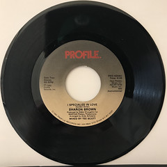 SHARON BROWN:I SPECIALIZE IN LOVE(RECORD SIDE-B)