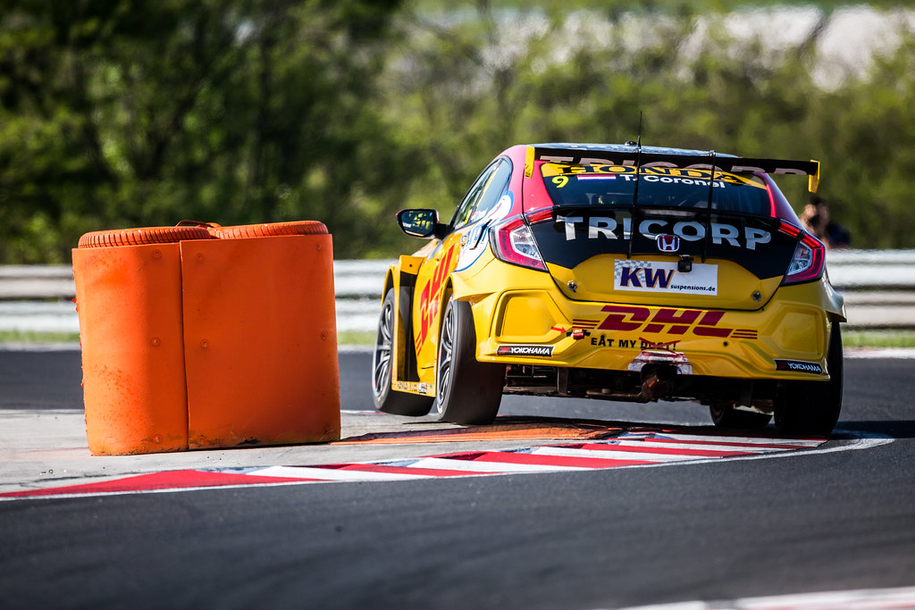 09 CORONEL Tom (NLD), Boutsen Ginion Racing, Honda Civic TCR, action during the 2018 FIA WTCR World Touring Car cup, Race of Hungary at hungaroring, Budapest from april 27 to 29 - Photo Thomas Fenetre / DPPI