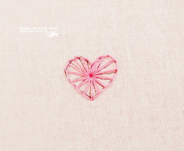 Stitch Tutorial :: Buttonwheel Heart