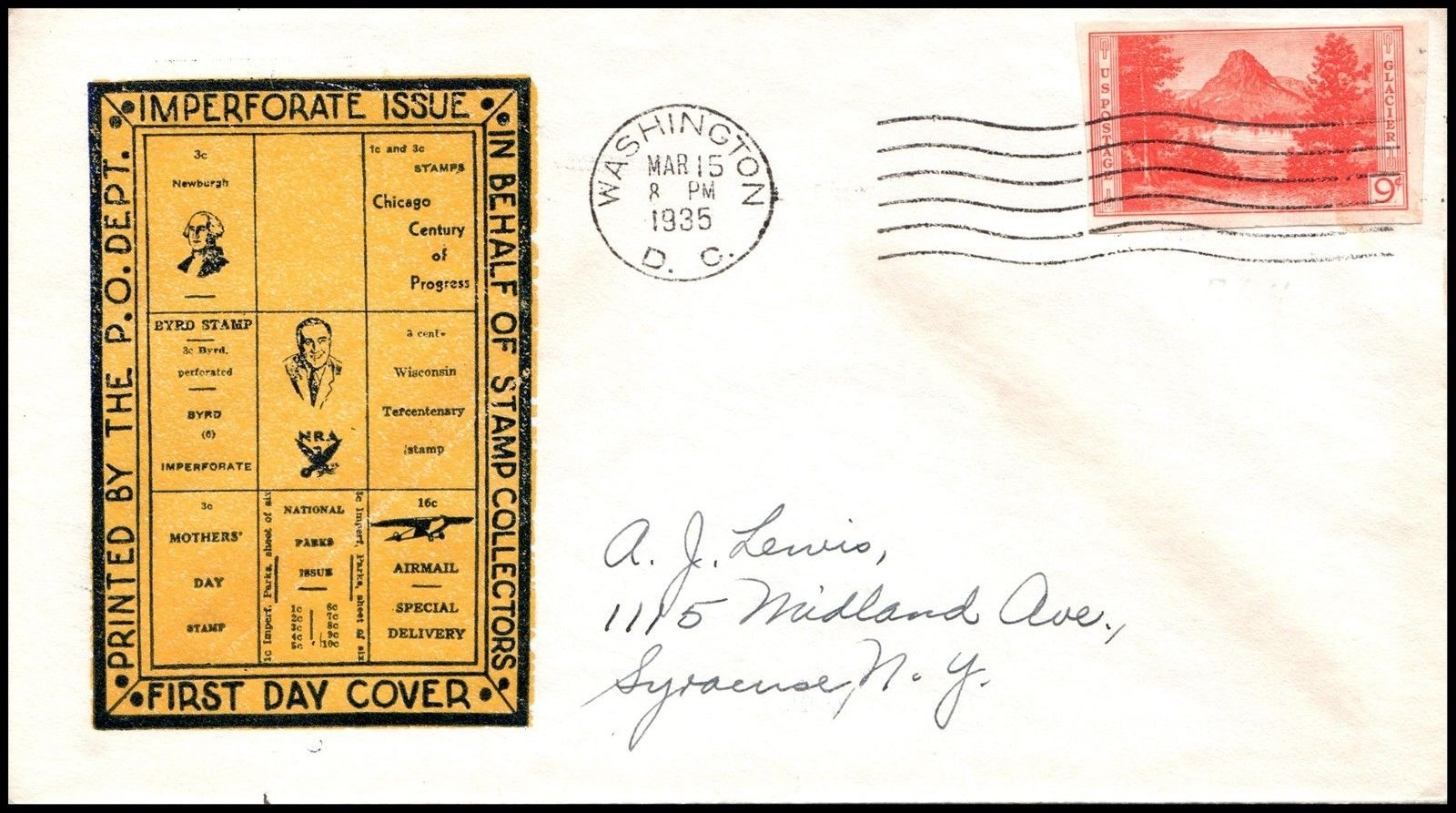 United States - Scott #764 (1935) first day cover