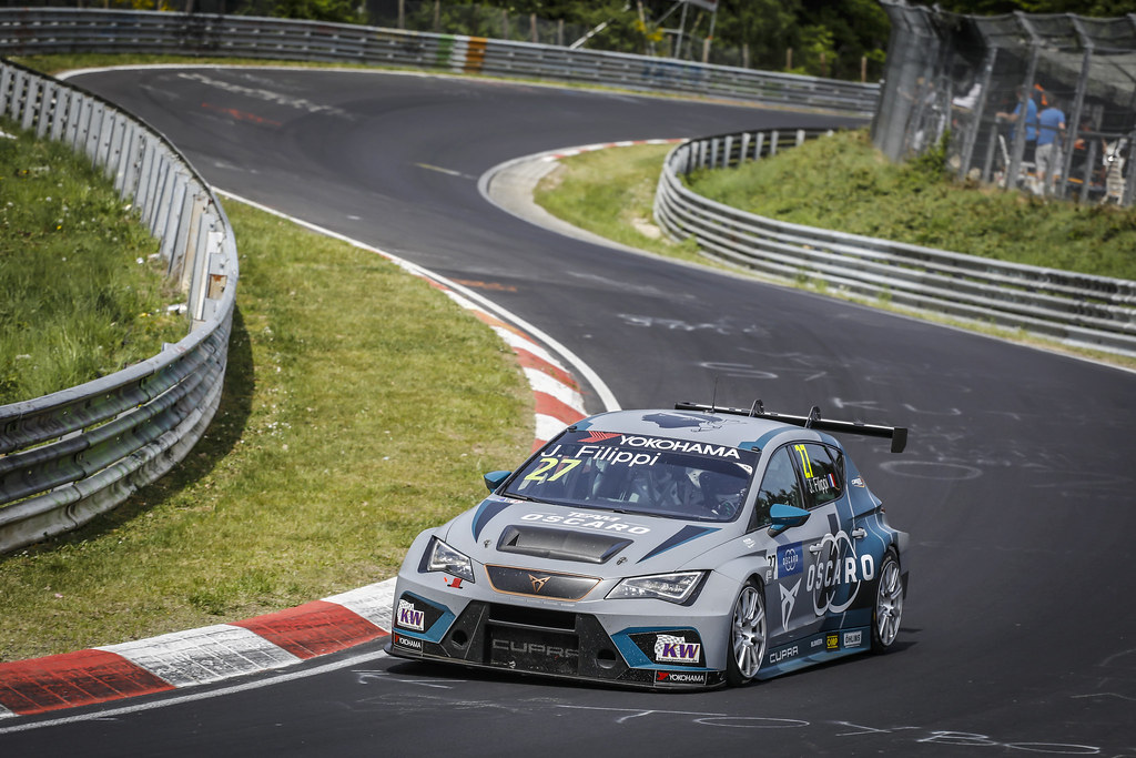 27 FILIPPI John (FRA), Team Oscaro by Campos Racing, Cupra TCR, action during the 2018 FIA WTCR World Touring Car cup of Nurburgring, Nordschleife, Germany from May 10 to 12 - Photo Francois Flamand / DPPI
