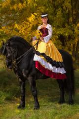 Side saddle Lady