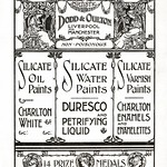 Thu, 2018-05-24 22:14 - Page from 'Decorations With Duresco Water Paint' published in 1907 by Dodd & Oulton, 8 Stanley St., Liverpool, regional agents for The Silicate Paint Co. Ltd. of Charlton, London, makers of Duresco paint.