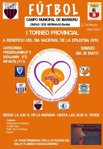 Cartel torneo provincial de fútbol para la epilepsia