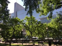 Sunny morning, Edward R. Murrow Park and World Bank headquarters, Washington, D.C.
