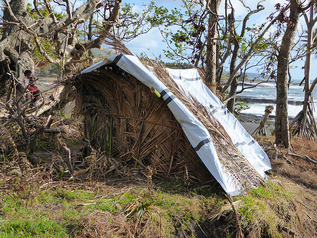 After the natural disaster of Cyclone Pam, Ni-Vanuatu people were forced to live in makeshift shelter, sometimes for years.
