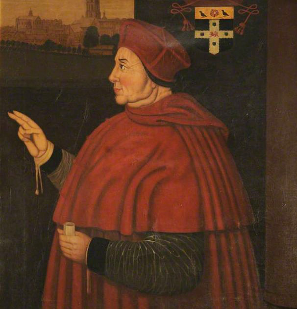Sampson Strong's portrait of Cardinal Wolsey