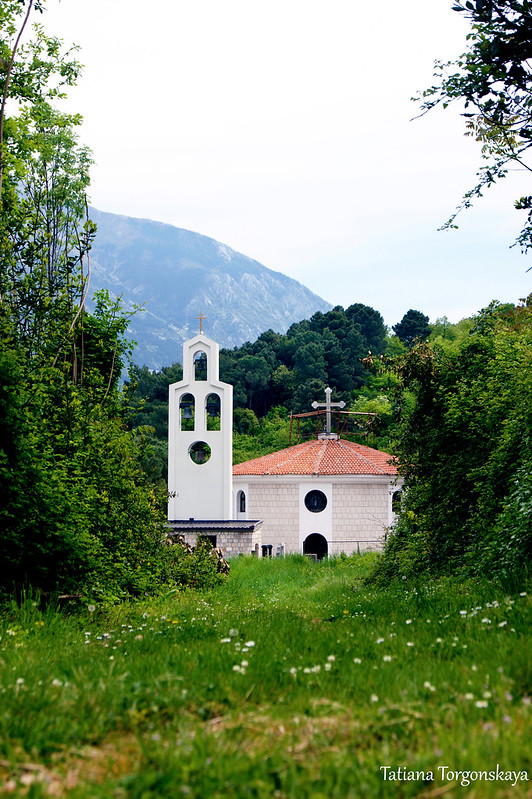 Вид на церковь Св. Петра Цетинского