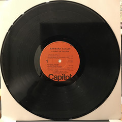 BARBARA ACKLIN:A PLACE IN THE SUN(RECORD SIDE-A)