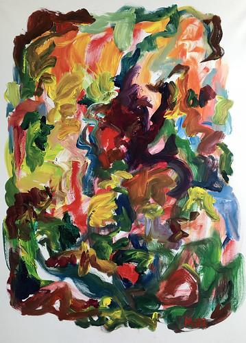 Susan Marx, Wandering Color 2018, 48x36, acrylic on canvas